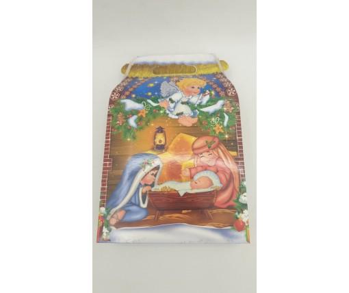 """Новогодняя коробка для конфет №229 """"Ангелы"""" на 700грам  (25 шт)"""