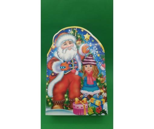 Новогодние коробки для конфет №226(Снеговики с Сантой) на 700грам (25 шт)
