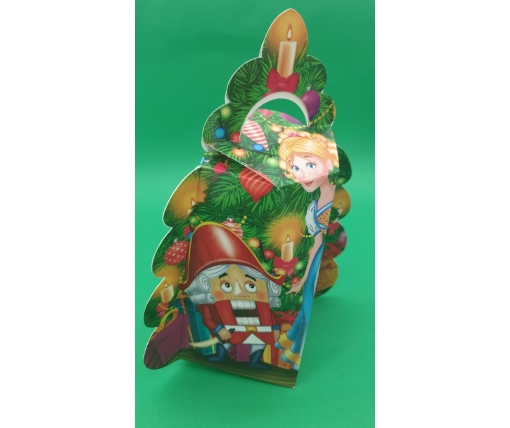 Новогодняя коробка для конфет №250 (Щелкунчик ) на 700грам (25 шт)