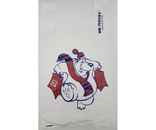 """Пакет майка полиэтиленовая (тип FA) 300(2*85)*550/0.018 НГ """"Медведь"""" Леоми (100 шт)"""