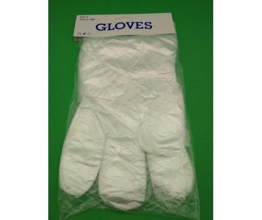Одноразовые перчатки (100шт) на планочке GLOVES (1 пач)