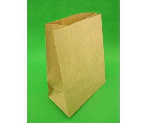 Пакет с дном бумажный 29*23*11  коричневый №26 (25 шт)