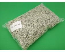 """Резинка для зелени №15 ( белая )*1,2мм  1 кг """"Plast"""" (1 пач)"""