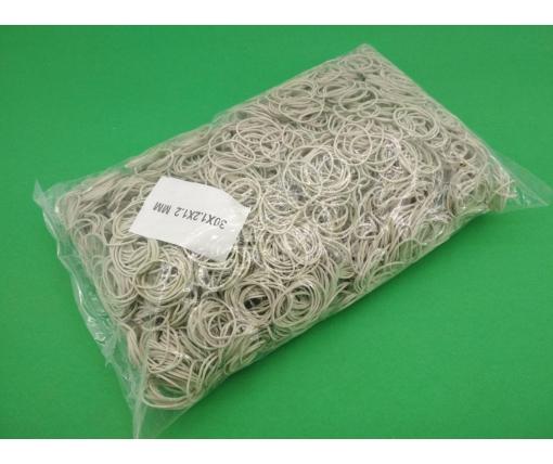 "Банковская Резинка  №30 ( белая )*1,2мм  1 кг ""Plast"" (1 пач)"