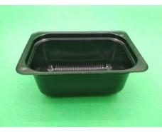 Соусник пластиковый черный  ПС-190 (V100мл\83*60*35) (50 шт)