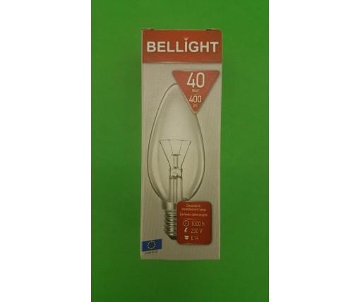 """Лампа-свеча прозрачная """"BELLIGHT"""" 40W E14 в индивидуальной упаковке  (1 шт)"""