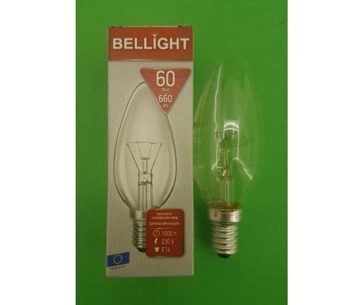 """Лампа-свеча прозрачная """"BELLIGHT"""" 60W E14 в индивидуальной упаковке  (1 шт)"""