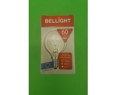 """Лампа-шарик прозрачная """"BELLIGHT"""" 60W E14 в индивидуальной упаковке  (1 шт)"""
