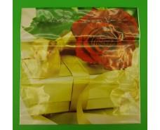"""Пакет с пластиковой ручкой  """"Подарочный"""" без ручки (10 шт)"""
