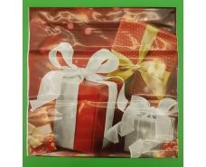 """Пакет с пластиковой ручкой  """"Красные подарки""""  без ручки (10 шт)"""