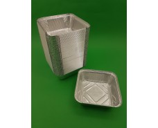 Контейнер из пищевой алюминиевой фольги прямоугольный 850мл SP84L 100шт/уп (1 пач)