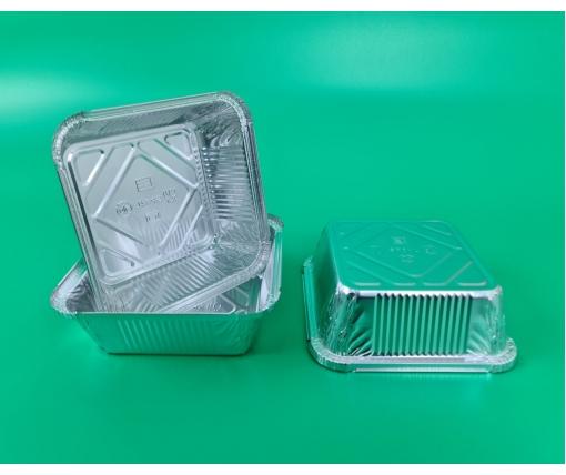 ᐉ Контейнер из пищевой алюминиевой фольги прямоугольный 850мл SP84L 100шт/уп (1 пач)