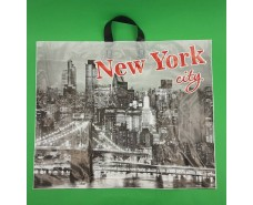 """Пакет с петлевой ручкой (60*50+5) """"НьюЙорк"""" ХВГ (25 шт)"""