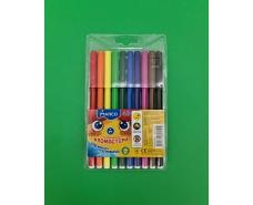 Фломастеры разноцветные   тм Марко  (10цветов ) (1 пач)