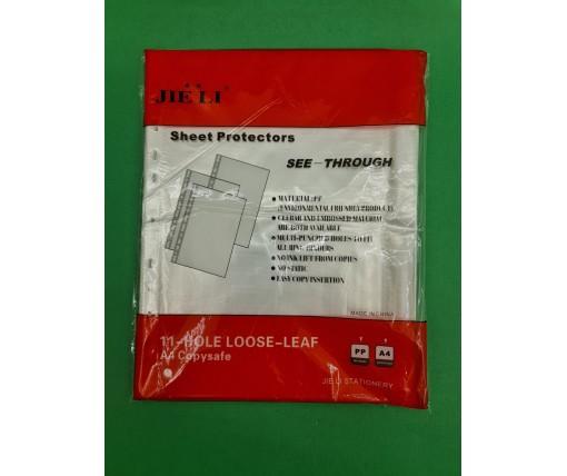Канцелярские файлы для документов тм. А4  JIE LI(30мк) (100 шт)
