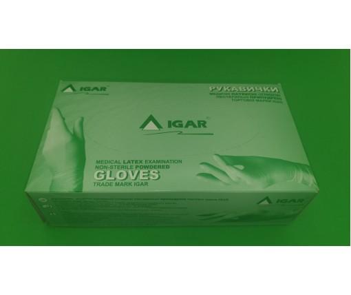 Виниловые перчатки S (100шт)белые (1 пач)
