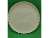 Бумажная тарелка под пиццу 370мм белая (100 шт)