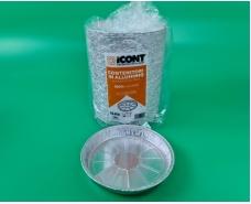 Контейнер алюминиевый круглый 100шт(T19G) 600ml верх19.5/18,3 низ17 h2,5 (1 пач)