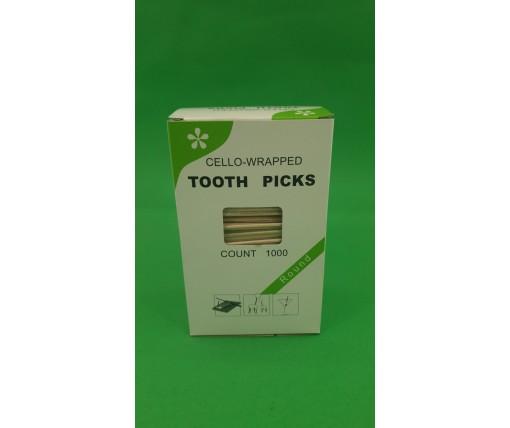 Зубочистка с запахом минтола  в индивидуальной целлофановой упаковке (1000 шт)