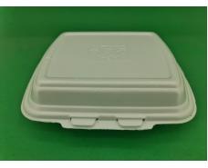 Ланч-бокс из вспененного полистирола с крышкой  (250*210*70) белый HP-1  (125 шт)