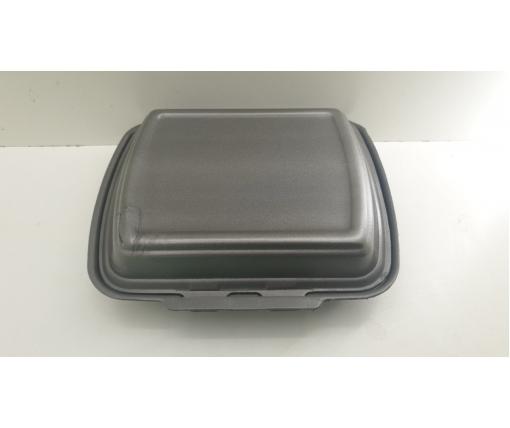 ᐉЛанч-бокс из вспененного полистирола с крышкой (250*210*70) Черный HP-1 125штук в мешке