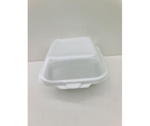 ᐉЛанч-бокс из вспененного полистирола с крышкой (123*133*78) белый HP-7 250штук в мешке