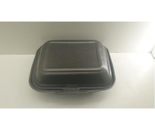 ᐉЛанч-бокс из вспененного полистирола с крышкой (190*150*60) Черный HP-9 250штук в мешке