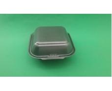 Ланч-бокс из вспененного полистирола с крышкой  (150*152*60) Черный HP-6 (250 шт)