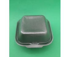 Ланч-бокс из вспененного полистирола с крышкой (123*133*78) Черный HP-7 (250 шт)