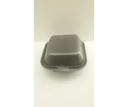 ᐉЛанч-бокс из вспененного полистирола с крышкой (123*133*78) Черный HP-7 250штук в мешке