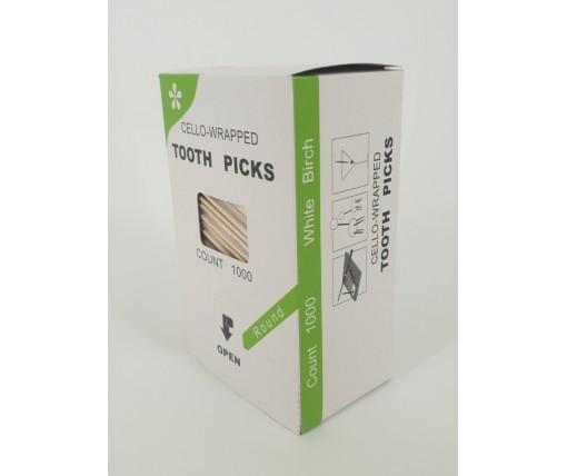 Зубочистка с ментолом в индивидуальной целлофановой упаковке (1000 шт) (1 пач)