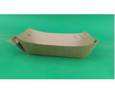 Тарелка лодочка крафт без сборки без ламинации 170*100*40 (100 шт)