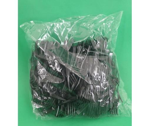 Вилка одноразовая пластиковая для фруктов Юнита Черная (250 шт)
