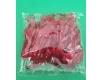 Вилка одноразовая пластиковая для фруктов Юнита Красная (250 шт)