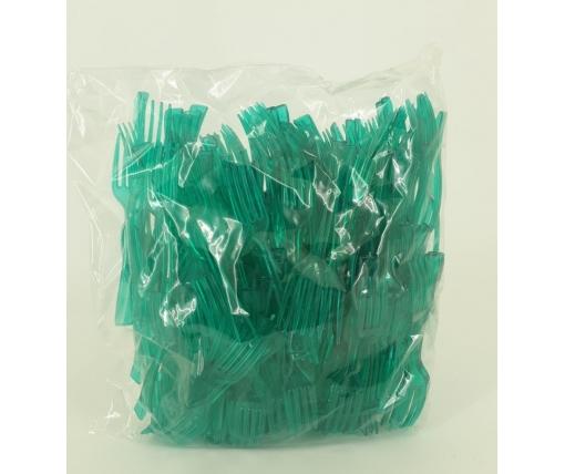 Вилка одноразовая пластиковая для фруктов Юнита Зеленая (250 шт)