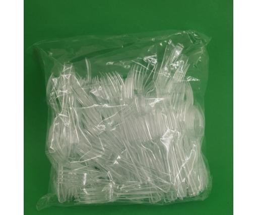 Вилка одноразовая пластиковая для фруктов Юнита Прозрачная (250 шт)
