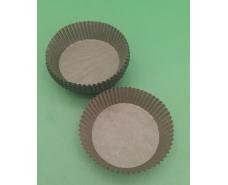 """Тартолетка для кексов  """"Круглая коричневая""""D71 H22 (100шт)/9/ (1 уп.)"""