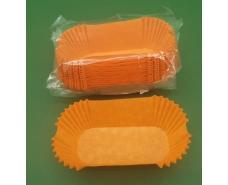 """Тартолетка для кексов""""Прямоугольная оранжевая""""(80*35*30,5) (100шт)/П-8/ (1 уп.)"""