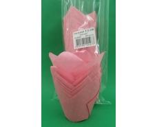 """Тартолетка для кексов""""Тюльпан Розовый"""" (50*60/80) (100шт)/ТЛ-150/ (1 уп.)"""