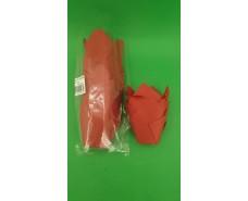 """Тартолетка для кексов""""Тюльпан Красный"""" (50*65/90) (100шт)/ТЛ-160/ (1 уп.)"""