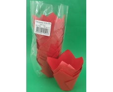 """Тартолетка для кексов""""Тюльпан Красный"""" (50*75/100) (100шт)/ТЛ-175/ (1 уп.)"""