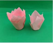 """Тартолетка для кексов""""Тюльпан Розовый"""" (50*75/100) (100шт)/ТЛ-175/ (1 уп.)"""