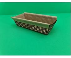 Плюмкейк (форма для выпечки прямоугольная гофрированная с бортиком)(20шт)  165х65х50  (1 уп.)