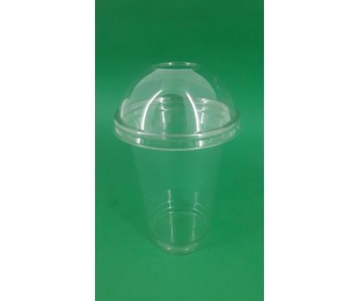 Стакан одноразовый РЕТ 420 мл  плотный, прозрачный, (50 шт)