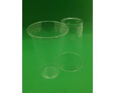 Стакан одноразовый РЕТ 500 мл  плотный, прозрачный, (50 шт)