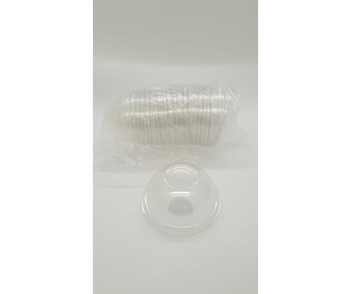 Крышка купольная без отверстием для стакана РЕТ(180.200,300,420,500) (50 шт)