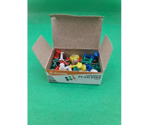 Кнопки канцелярские(гвоздик) в картонной упаковке 50шт №JL-122 (1 пач)