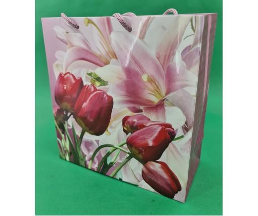 Пакет бумажный подарочный квадратный ы 23*24*10(артKV-148) (12 шт)
