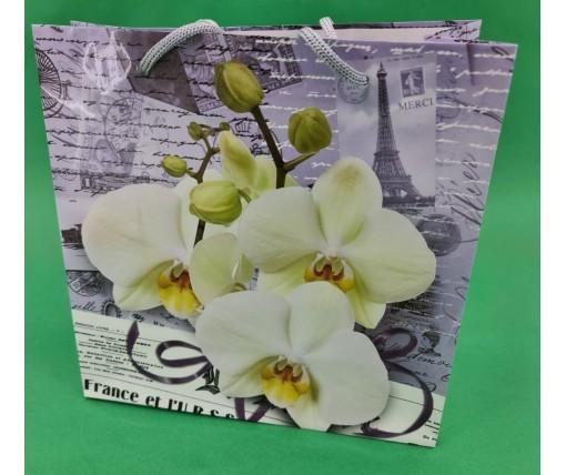 Пакет бумажный подарочный квадратный ы 23*24*10(артKV-005) (12 шт)