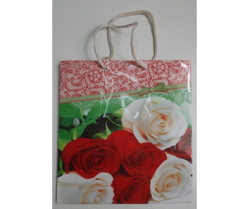 Пакет бумажный подарочный квадратный ы 23*24*10(артKV-117) (12 шт)